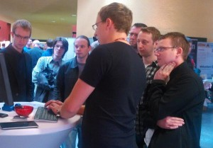 Morritz in action at Chemnitzer Linux Tage