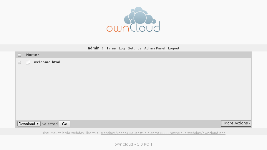 owncloud 1.0rc