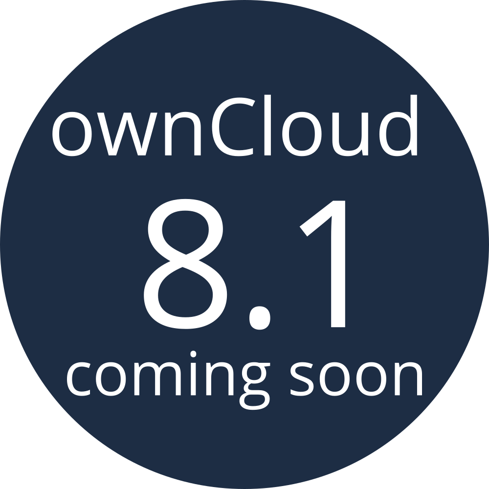 ownCloud 8.1 coming soon image round
