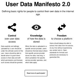 User Data Manifesto