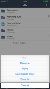 iOS sync and download options