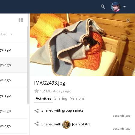activities in files