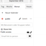 ownCloud now with CalDAV calendar public sharing