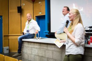 Franka Wittek holding a talk at last year's ownCloud Conference