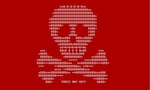 2017 Petya cyberattack screenshot