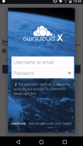 OAuth2 with the ownCloud Beta App