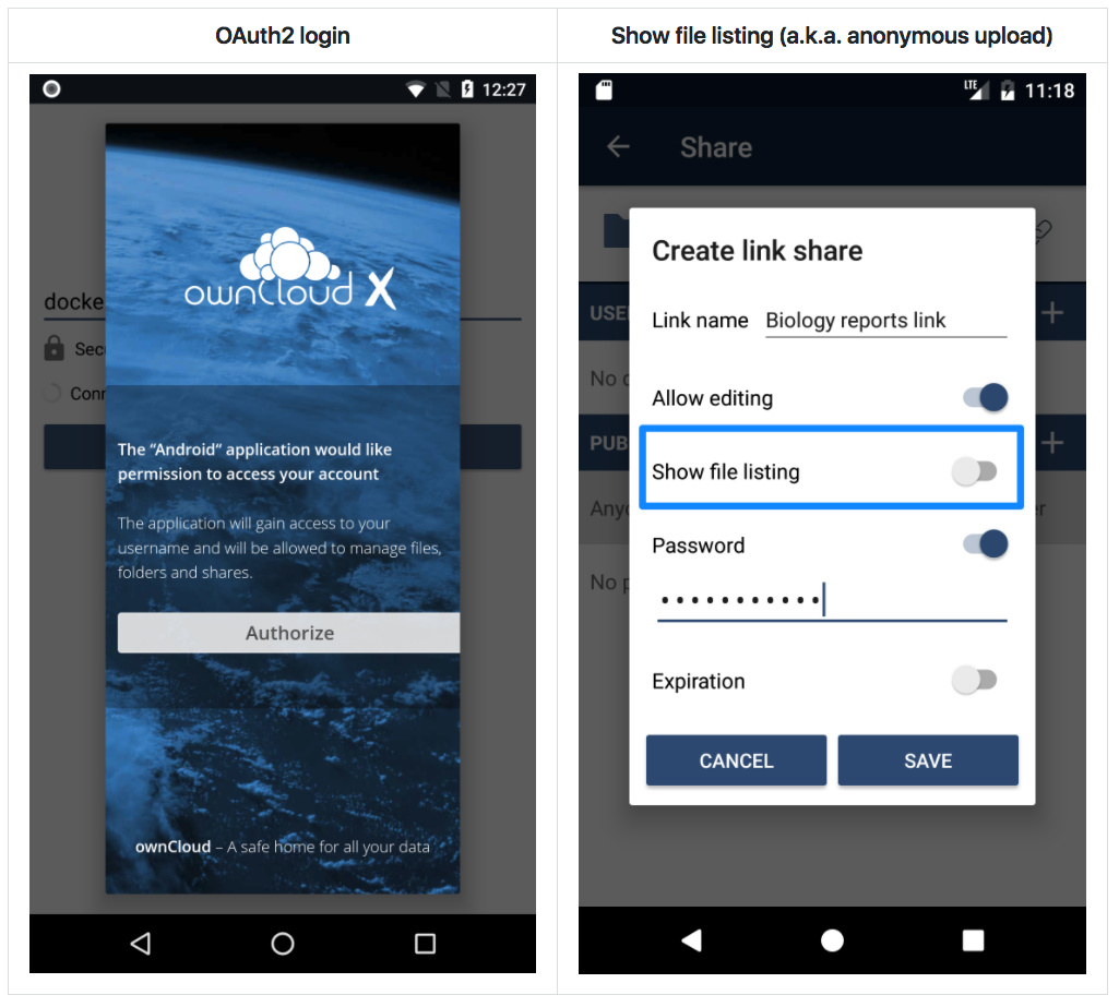 ownCloud-Android-oauth