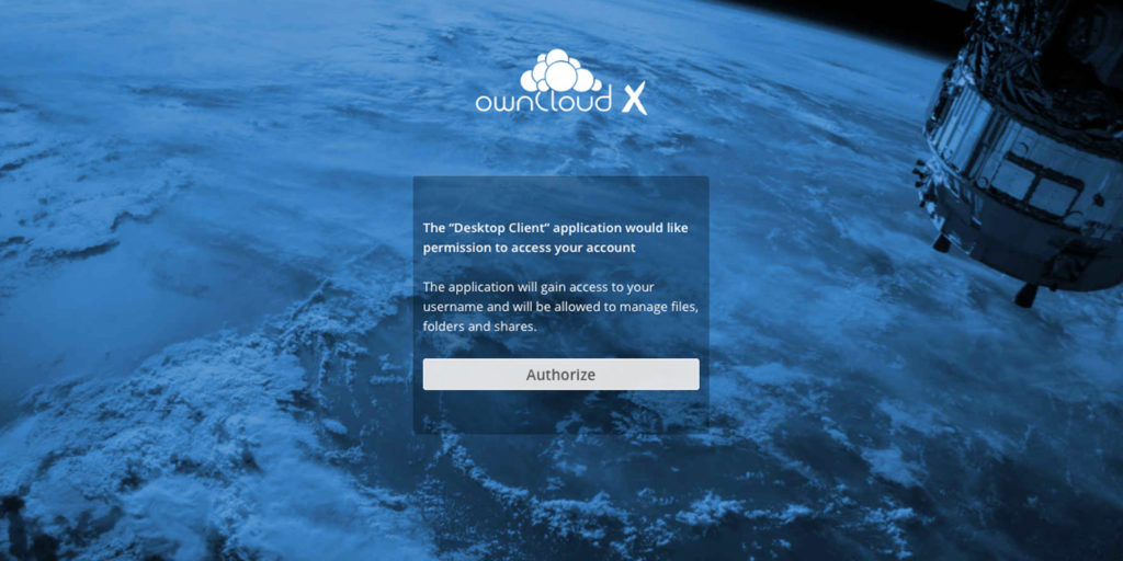 ownCloud oauth2 app authorized