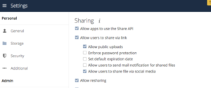 ownCloud Allow Resharing Server