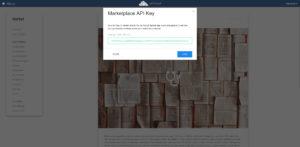 ownCloud add API key