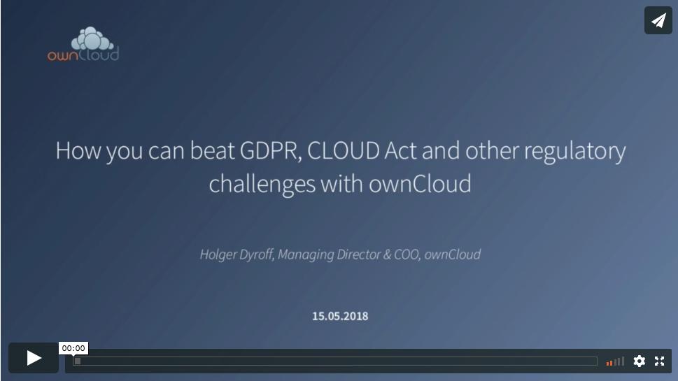 ownCloud GDPR Webinar