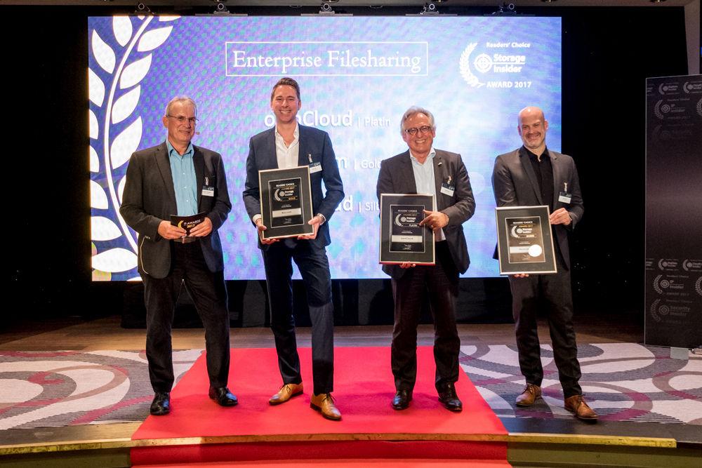 ownCloud storage award platinum 2017