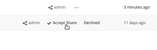 ownCloud undo rejected share