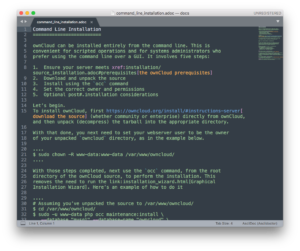 ownCloud documentation migration to Antora - editing asciidoc in sublime text