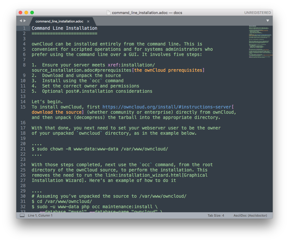 OwnCloud Documentation Migration To Antora