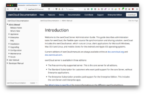 ownCloud documentation migration to Antora - viewing the locally generated Antora documentation