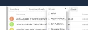 ownCloud create user mail address