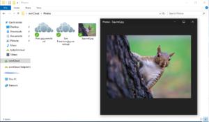 ownCloud Client download virtual file