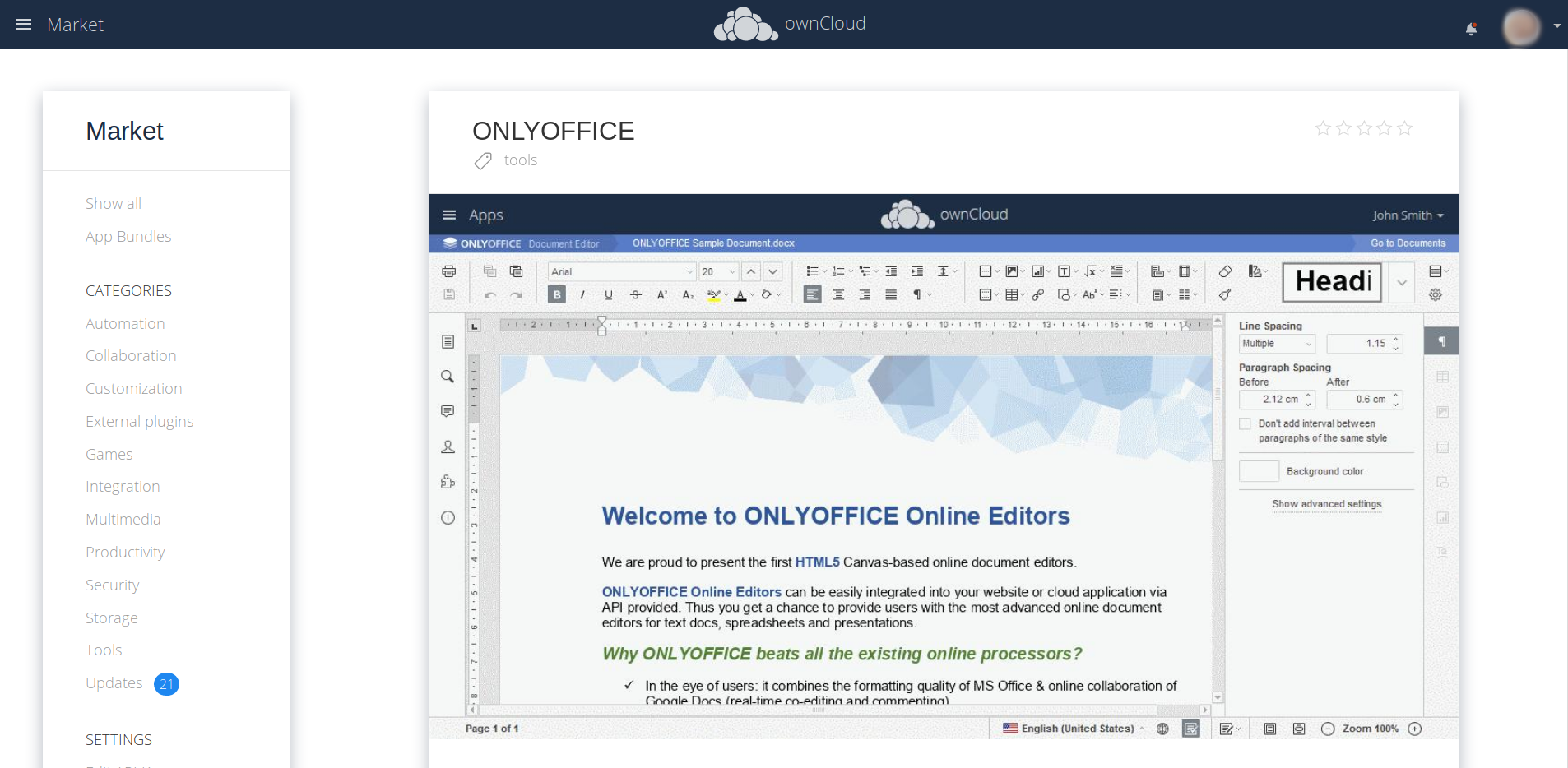 ownCloud OnlyOffice public link editing install
