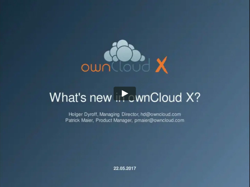 ownCloud - Whats new in ownCloud