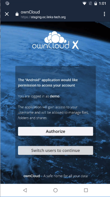 ownCloud two-factor authentication authorize app oauth2