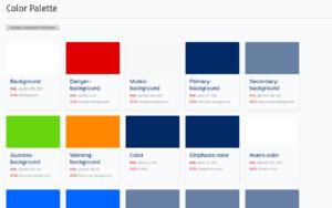 The default color palette in Phoenix.