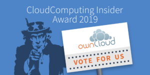 CloudComputing Insider Award 2019: Vote for ownCloud