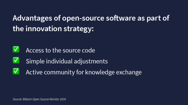 Advantages of open-source software as part of the innovation strategy
