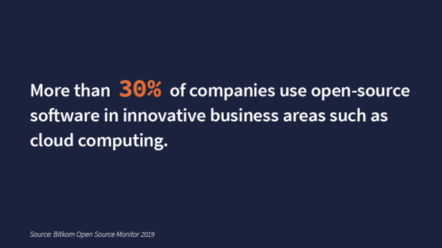 Open-source software is used in innovative business areas