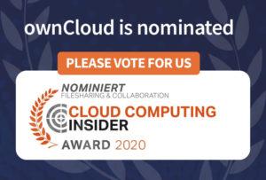 Cloud Computing Insider Award 2020