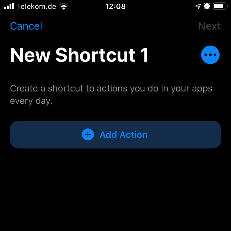 ownCloud integrating with iOS Shortcuts App