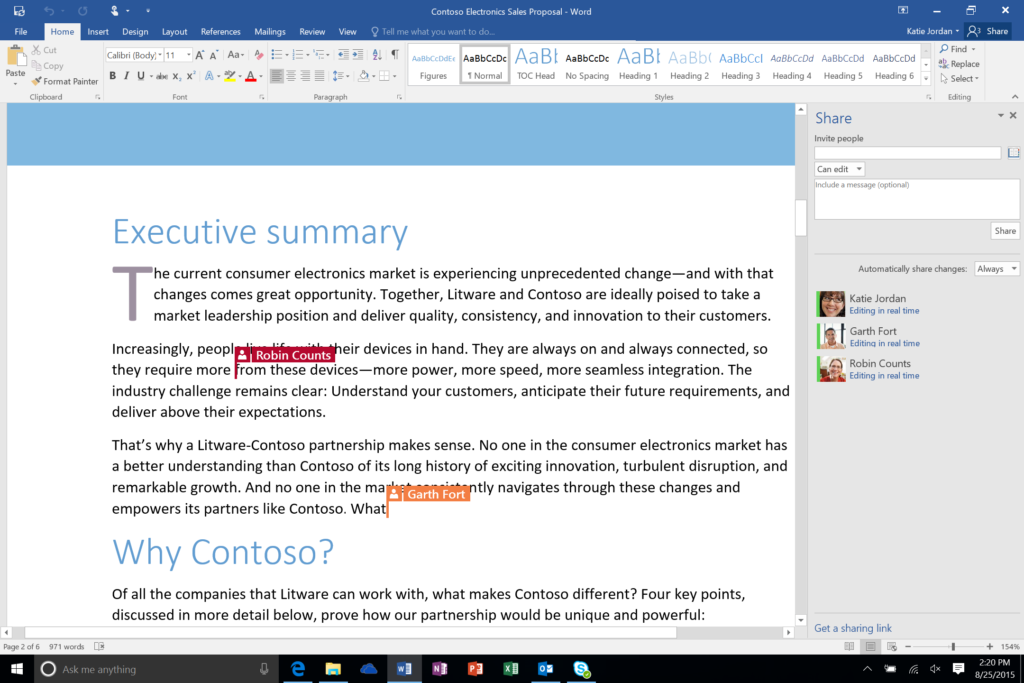 secure online collaboration in microsoft office