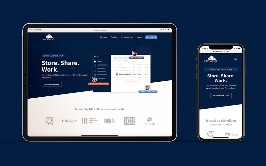 ownCloud new website relaunch
