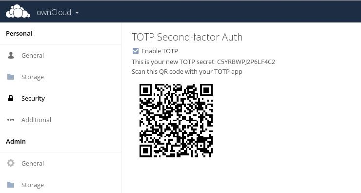 Screenshot of the 2fa user interface for multi-factor authentication (mfa)