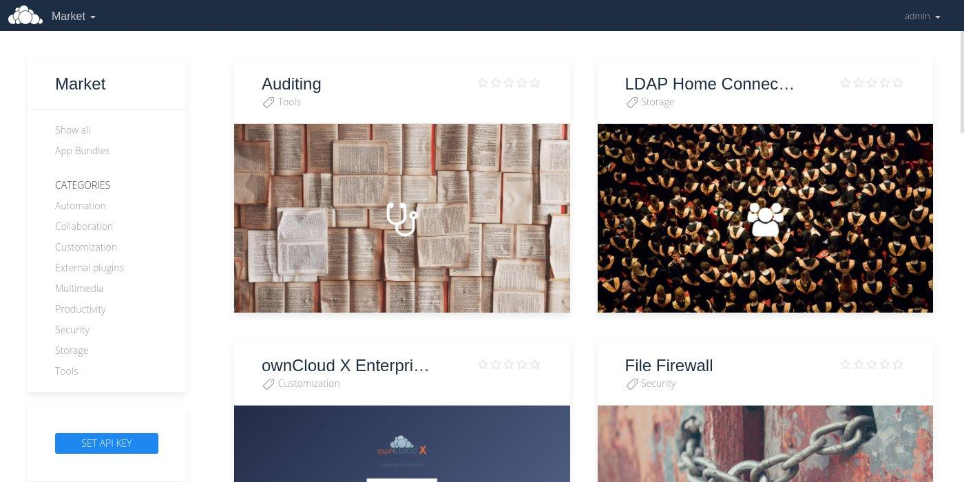 Screenshot of the Marketplace App