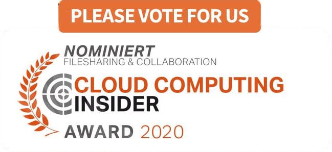 Cloud computing insider award