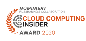 Cloud computing insider award Nominiert 2020