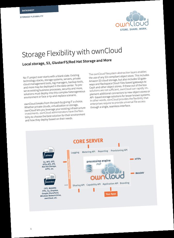 owncloud whitepaper Storage Flexibility