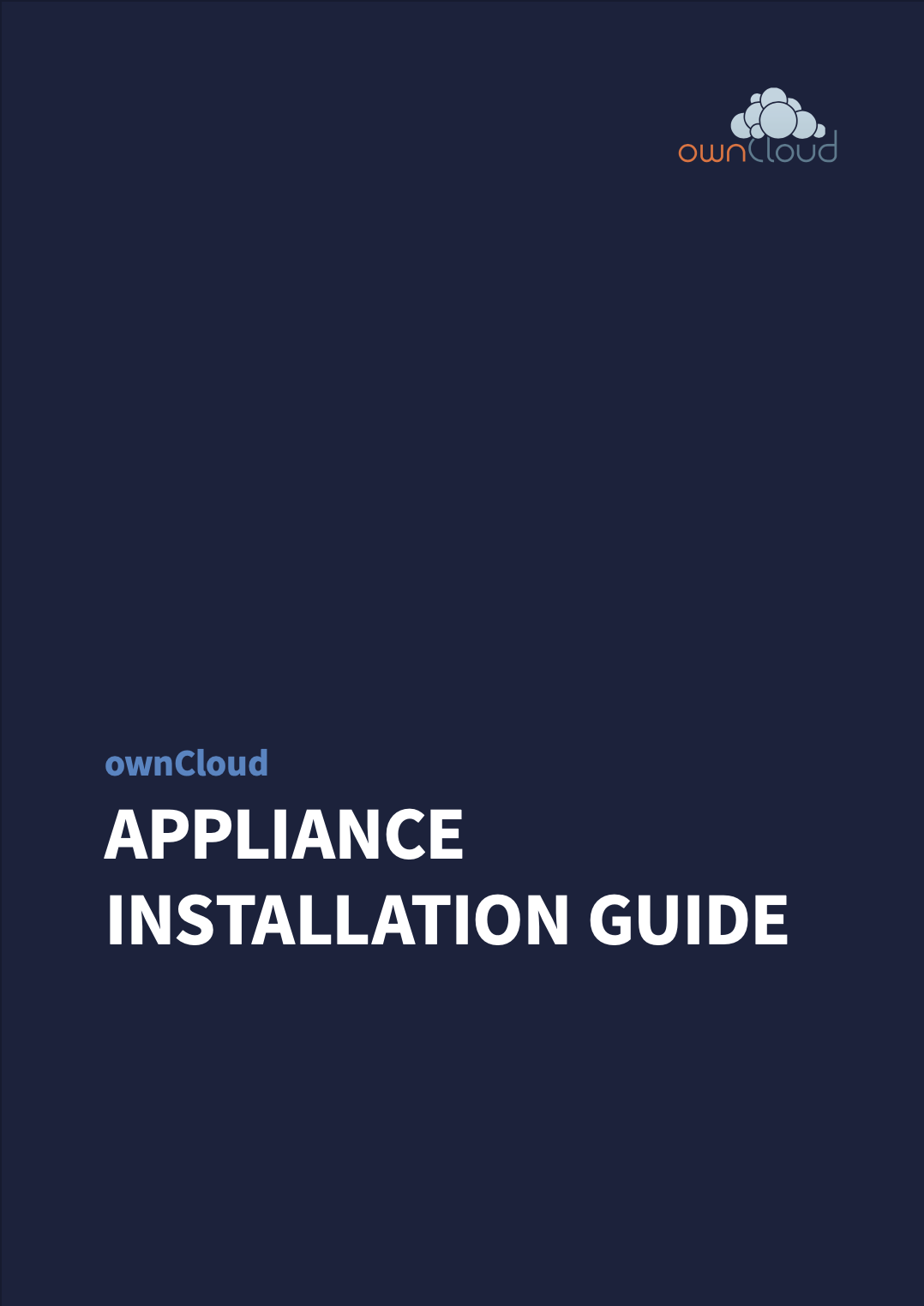 ownCloud Appliance installation guide