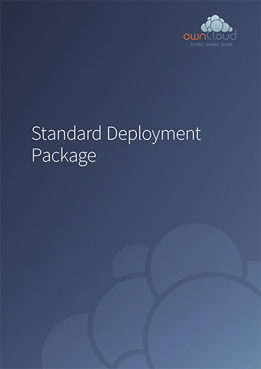 ownCloud Service Package Standard Deployment