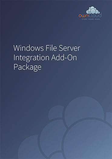 ownCloud Service Package Windows File Server Integration