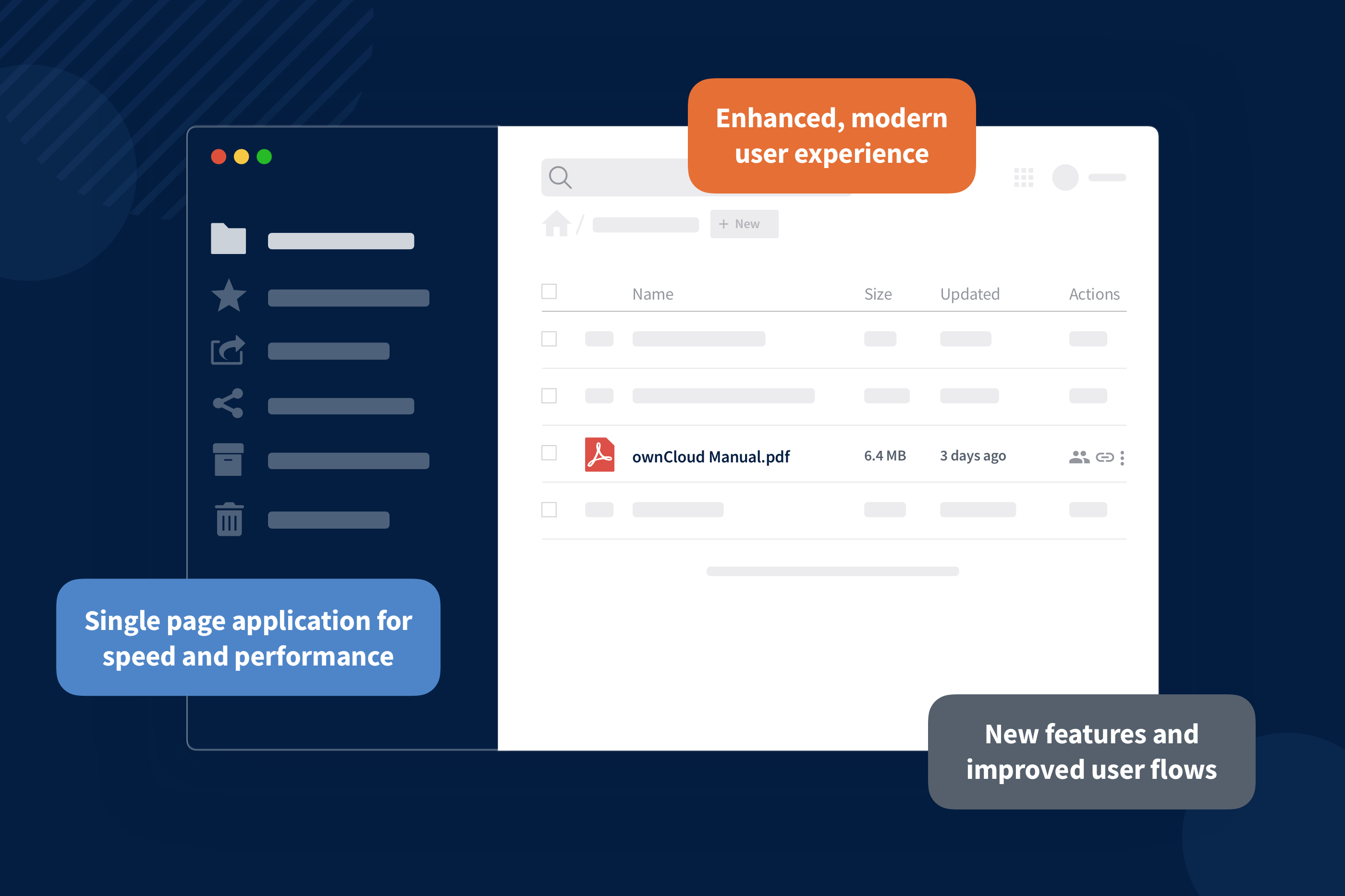 The new web frontend for ownCloud is released