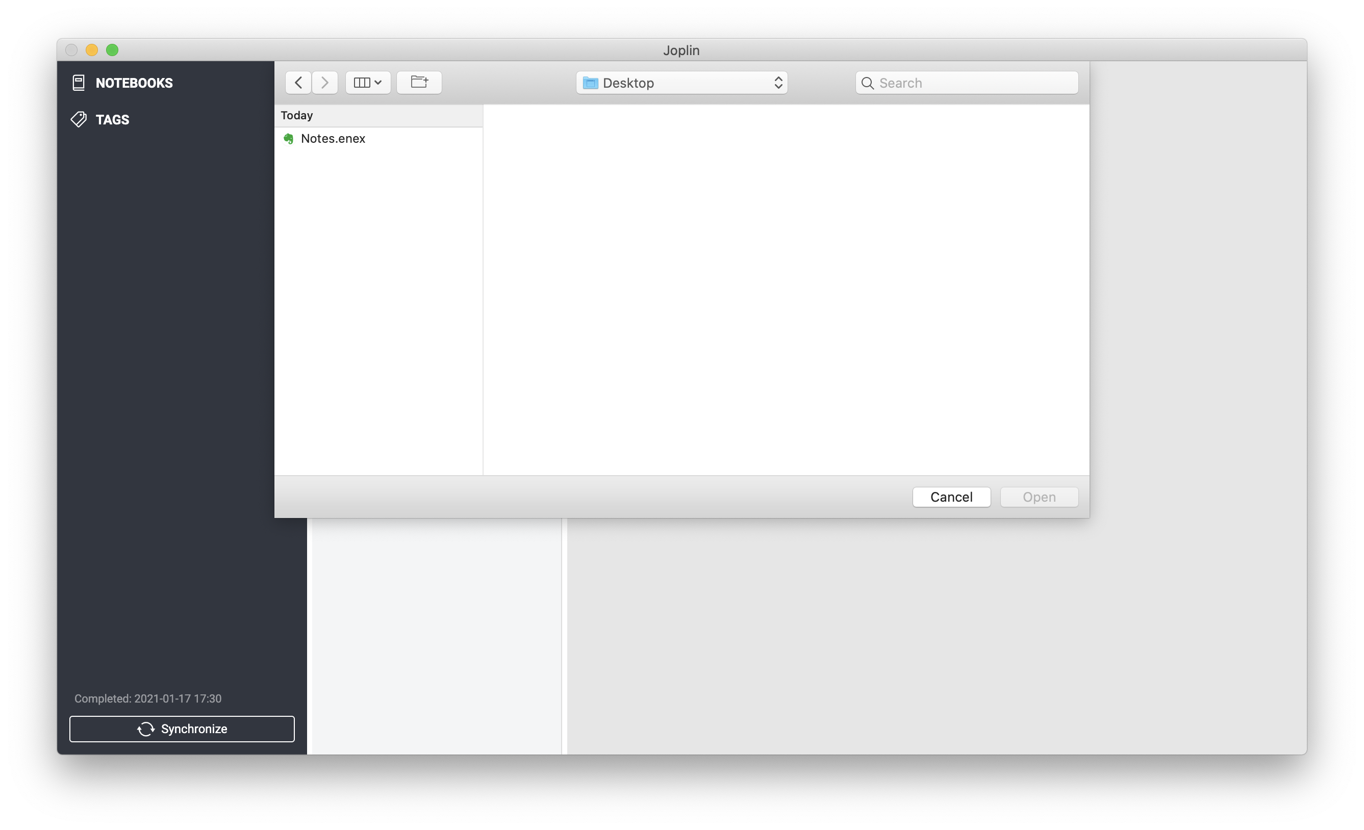 Joplin notes can be synced via ownCloud