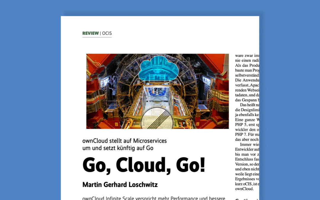 iX Magazin berichtet über ownCloud Infinite Scale