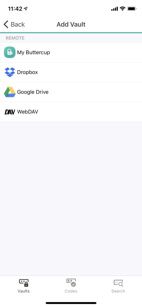"Your go-to choice here is the ""WebDAV"" option to connect your vault from your ownCloud with your mobile device."