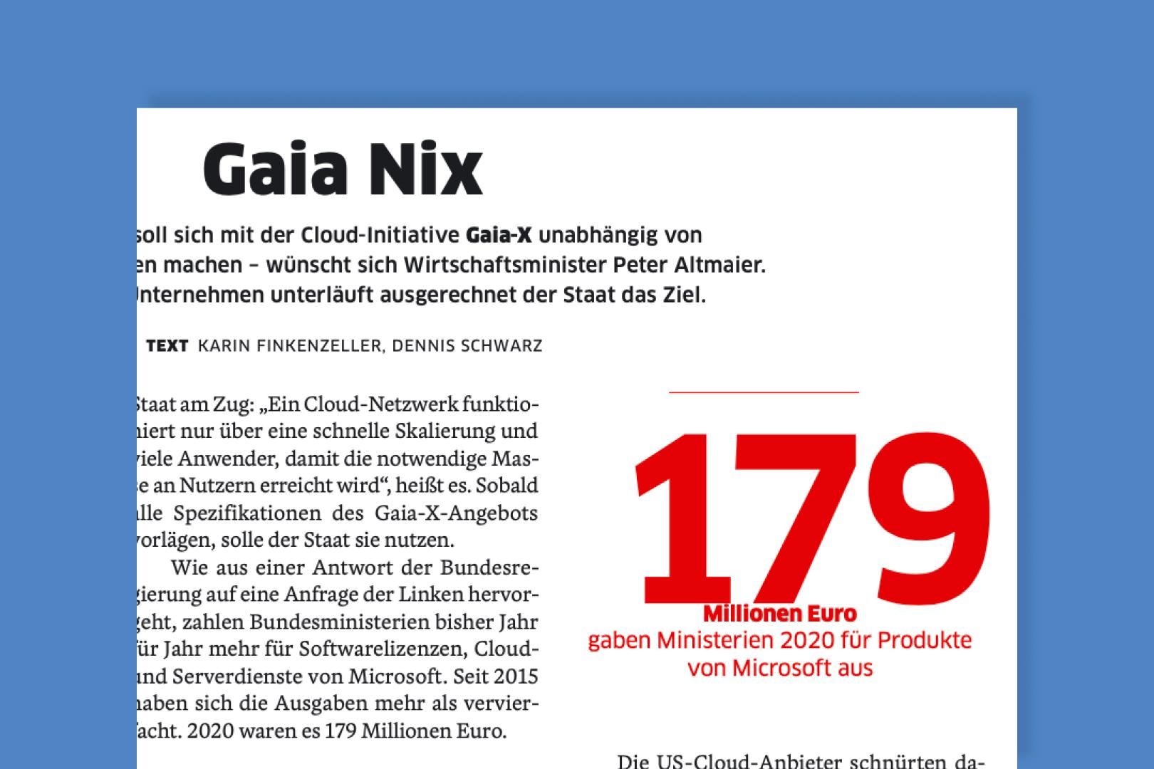 ownCloud Wirtschaftswoche Gaia-X