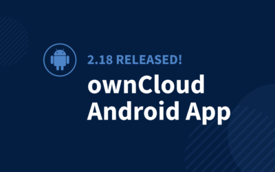 ownCloud Android App 2.18 released