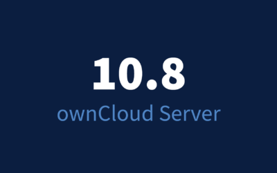 New release! ownCloud Server 10.8 is here