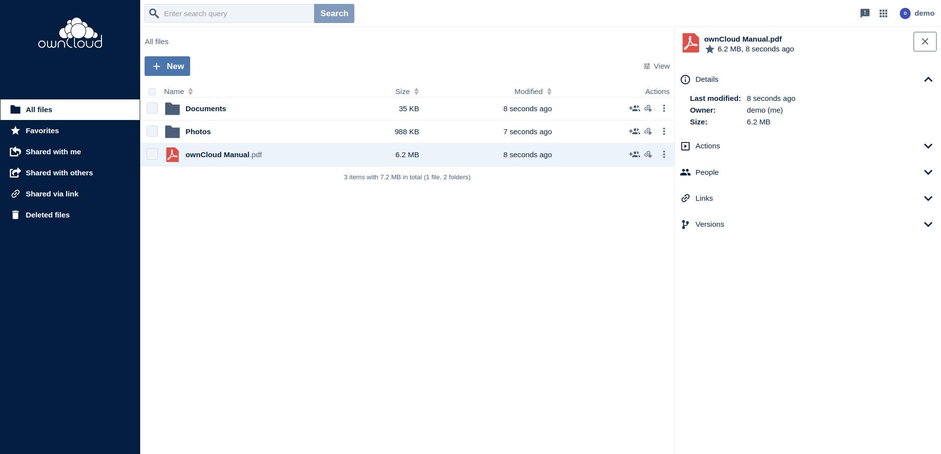 ownCloud Web comes as part of the ownCloud Server 10.8 bundle